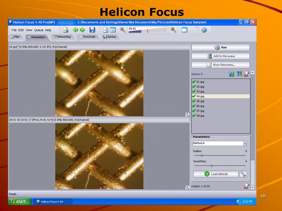 10 Helicon Focus