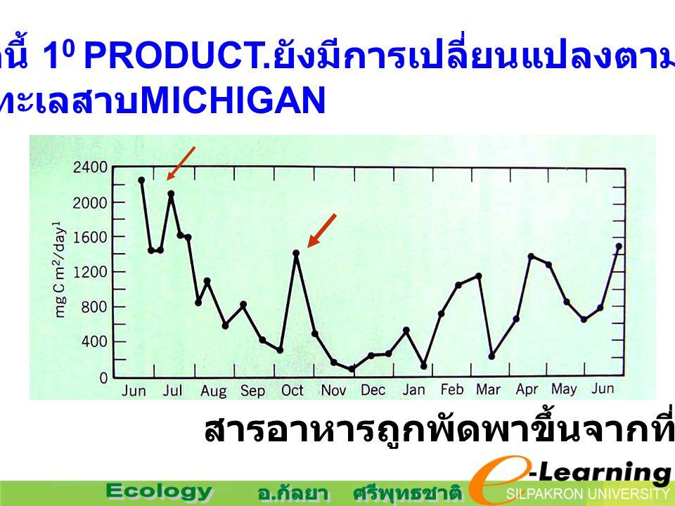 นอกจากนี้ 1 0 PRODUCT. ยังมีการเปลี่ยนแปลงตามฤดูกาล ทะเลสาบ MICHIGAN สารอาหารถูกพัดพาขึ้นจากที่ลึก