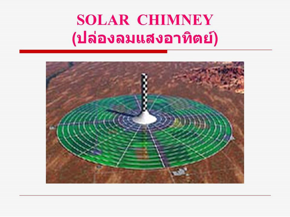 SOLAR CHIMNEY ( ปล่องลมแสงอาทิตย์ )