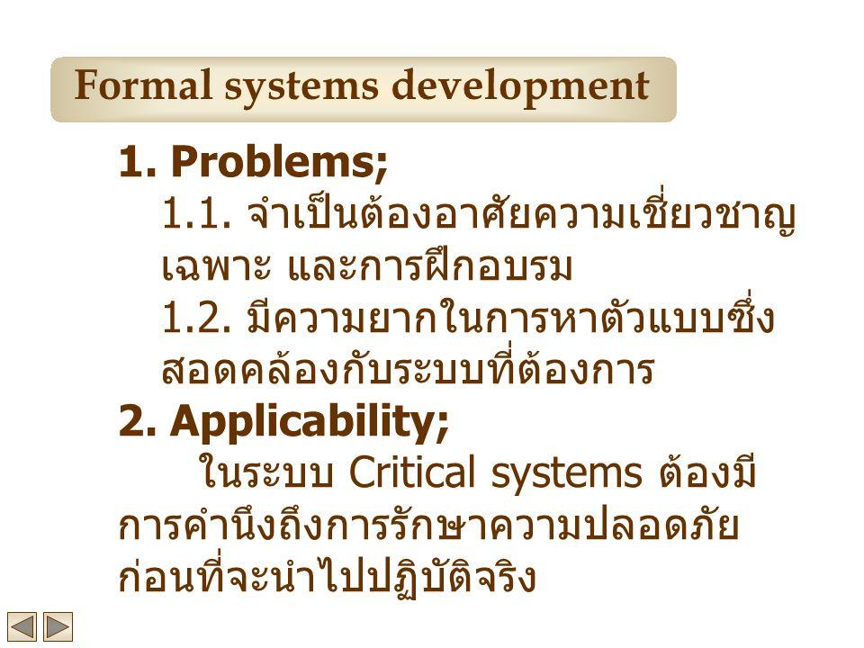 1.Problems; 1.1. จำเป็นต้องอาศัยความเชี่ยวชาญ เฉพาะ และการฝึกอบรม 1.2.