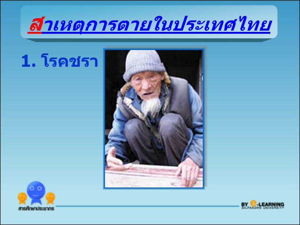 ส าเหตุการตายในประเทศไทย 1. โรคชรา