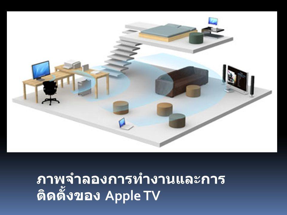 ภาพจำลองการทำงานและการ ติดตั้งของ Apple TV