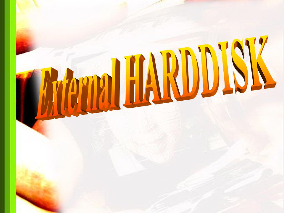 External Harddisk คือ อุปกรณ์เก็บข้อมูลคอมพิวเตอร์ชนิด หนึ่งที่สามารถพกพาหรือนำติดตัวไป ยังสถานที่ต่างๆ โดยใช้ Harddisk ที่ใช้กันอยู่ ทั่วไปในเครื่องคอมพิวเตอร์ มาติดตั้ง ในกล่องสำหรับใส่ Harddisk