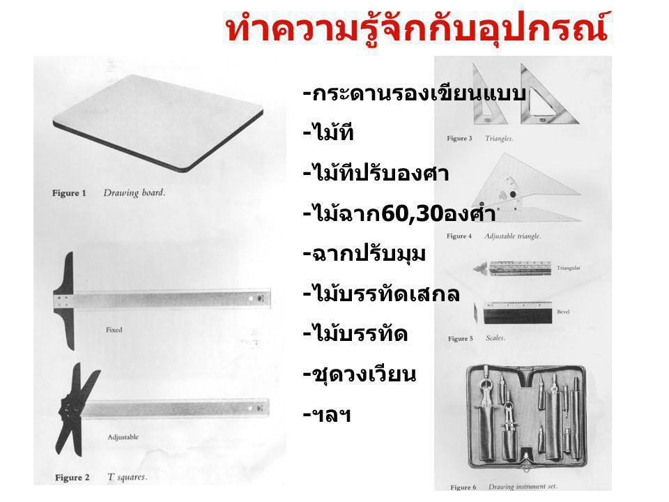 - โต๊ะเขียนแบบ - กระดานติดทีสไลด์