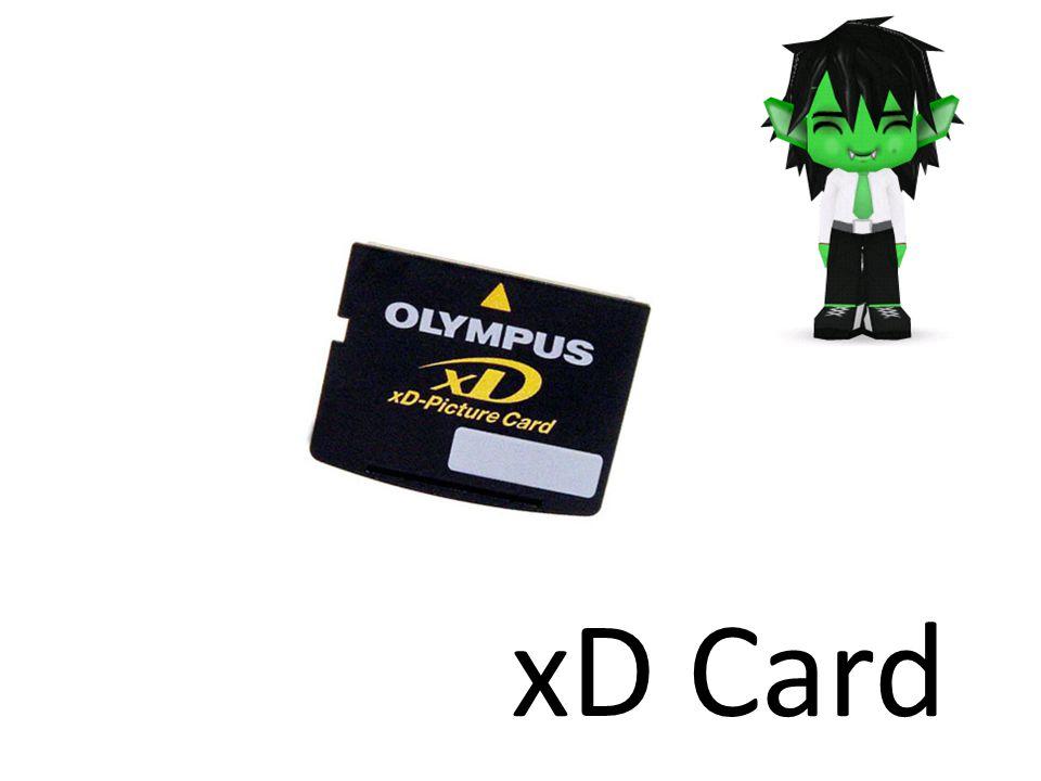 xD Picture Card ( คำย่อที่ใช้กันทั่วไปคือ xD Card) ขนาดของอุปกรณ์ 25.0 x 20.0 x 1.7 mm เป็นอุปกรณ์เก็บข้อมูลชนิดใหม่ที่ ออกแบบมาแทนที่ SM โดยมี Fuji และ Olympus เป็น ผู้สนับสนุน *Extream digital picture card