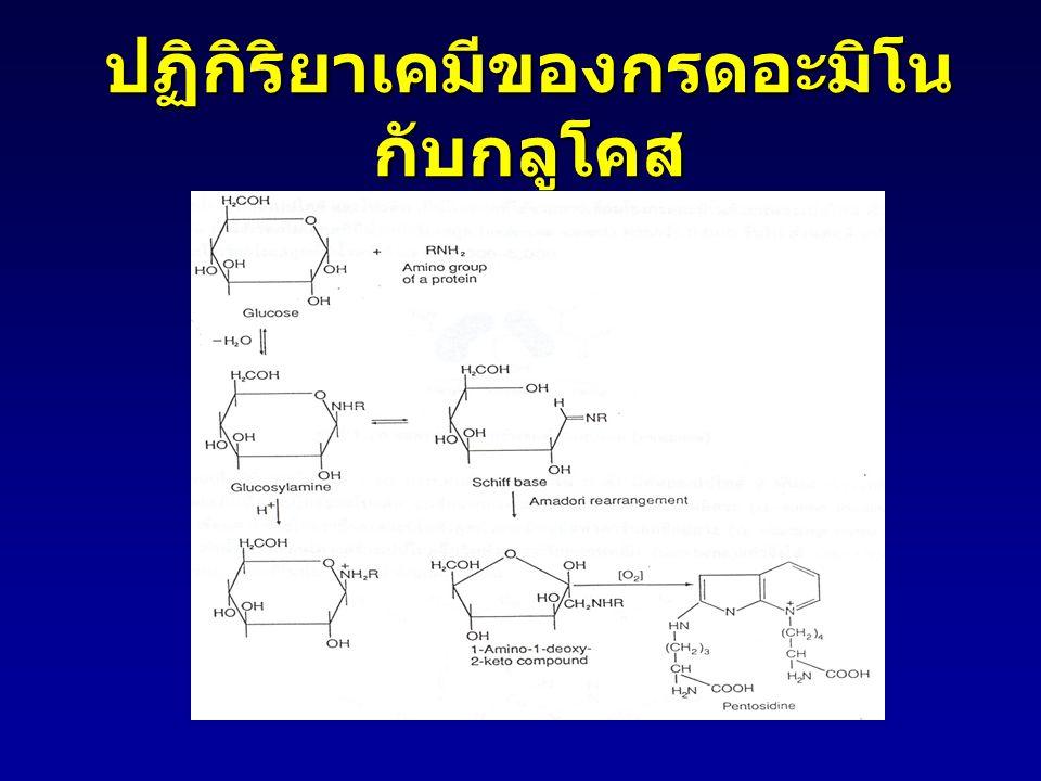 ปฏิกิริยาเคมีของกรดอะมิโน กับกลูโคส