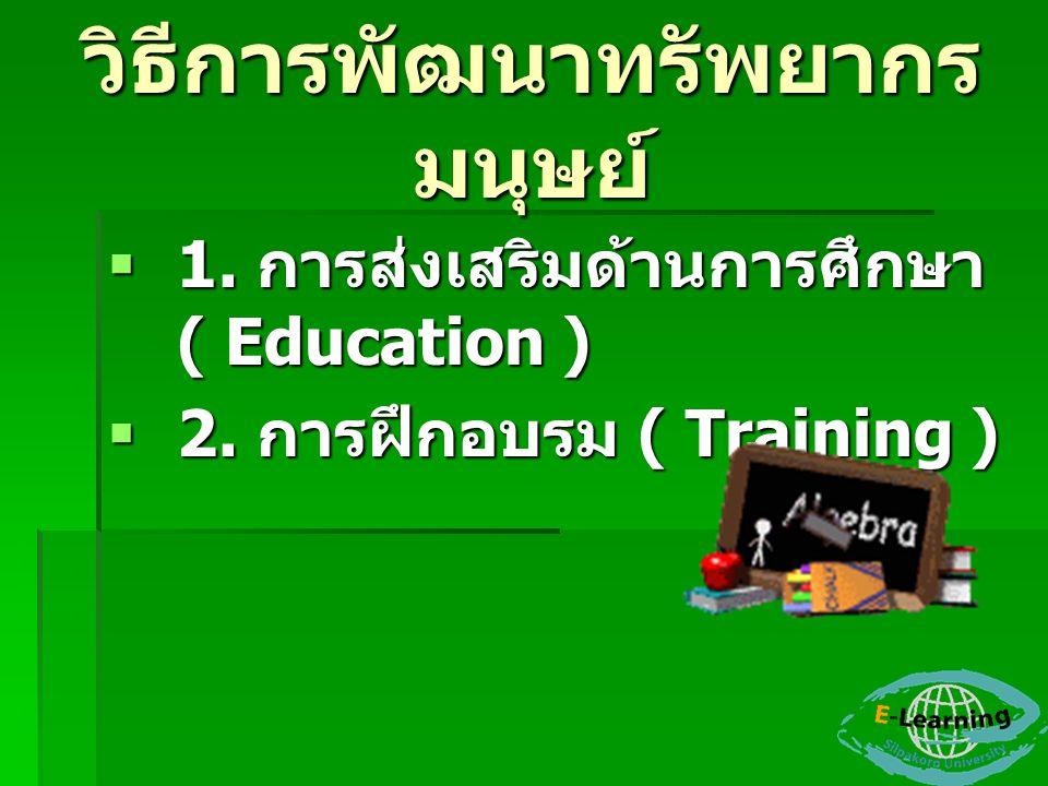 การฝึกอบรมและการ พัฒนา  1.การให้คำแนะนำ ( Orientation )  2.