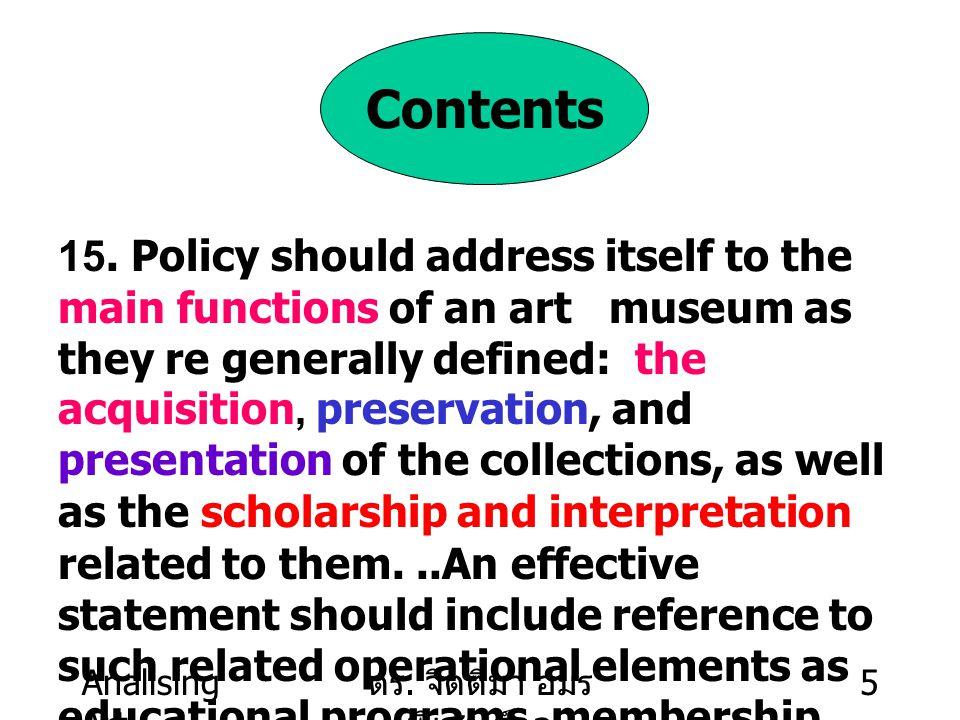 Analising Art ดร.จิตติมา อมร พิเชษฐ์กูล 6 The Collections 22.