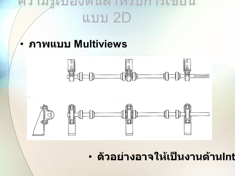ภาพแบบ Multiviews ความรู้เบื้องต้นสำหรับการเขียน แบบ 2 D ตัวอย่างอาจให้เป็นงานด้าน Interior