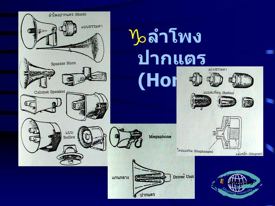  ลำโพง ปากแตร (Horn)