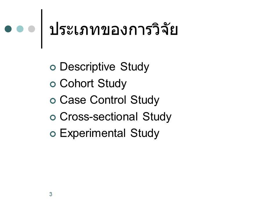 4 Descriptive Study Case Report Case Series Description of case selected No hypothesis testing No comparison group Retrospective or Prospective