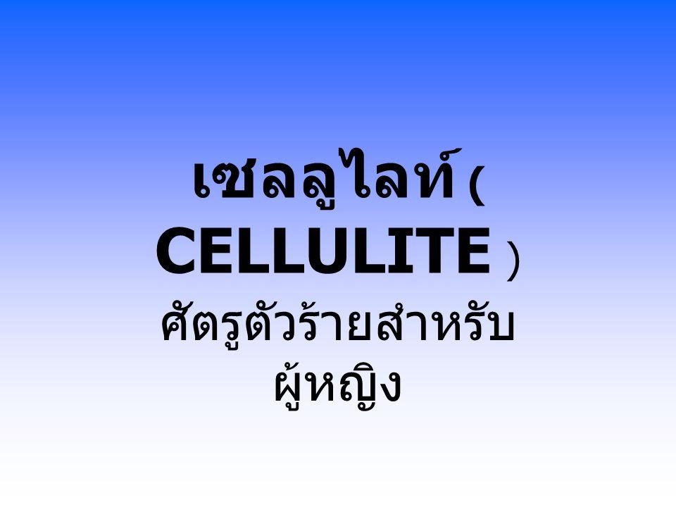 เซลลูไลท์ ( CELLULITE ) ศัตรูตัวร้ายสำหรับ ผู้หญิง