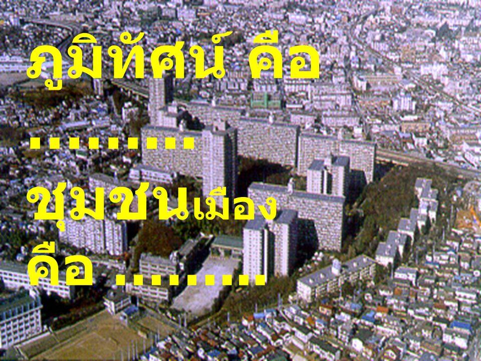ภูมิทัศน์ คือ ……... ชุมชน เมือง คือ ……...