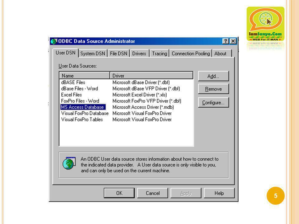 ตอนที่ 3 การเพิ่มข้อมูลลงในตาราง ฐานข้อมูล C:\Appserv\www\web\database.mdb 16