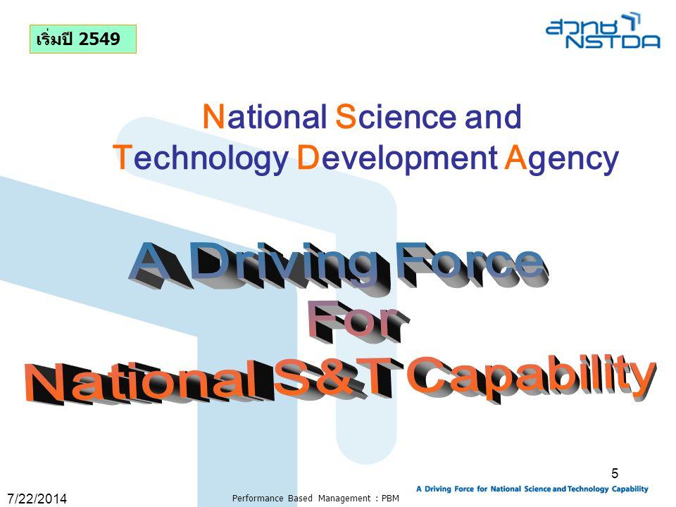 7/22/2014 Performance Based Management : PBM 56 Standard and Goals
