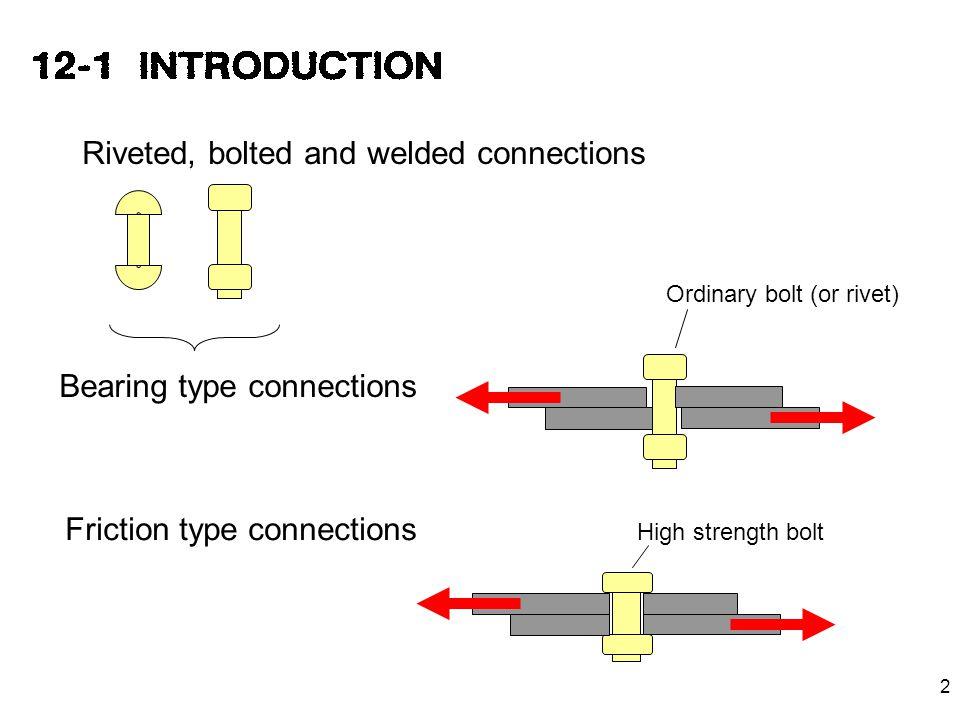 3 Lab joints ( ต่อทาบ ) Butt joints ( ต่อชน ) cover plate main plate