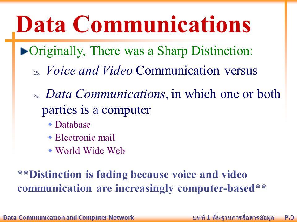 P.24Data Communication and Computer Network บทที่ 1 พื้นฐานการสื่อสารข้อมูล Three basic techniques: Amplitude modulation Frequency modulation Phase modulation Converting Digital Data into Analog Signals