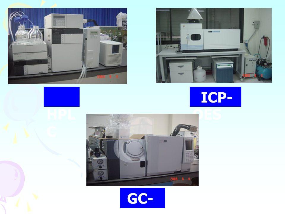 HPL C ICP- OES GC- MS