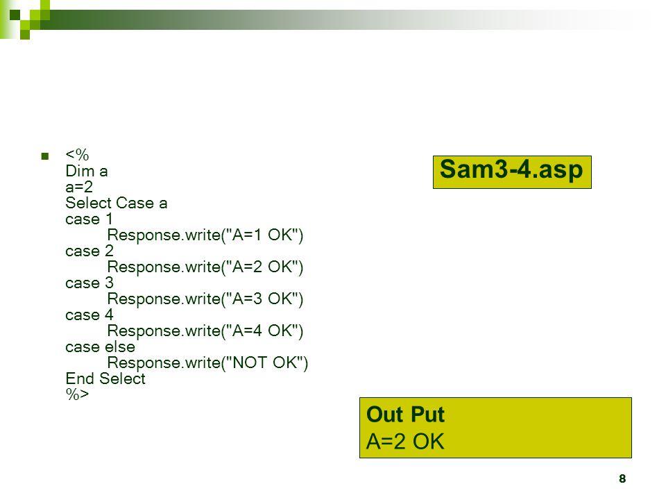 8 Sam3-4.asp Out Put A=2 OK