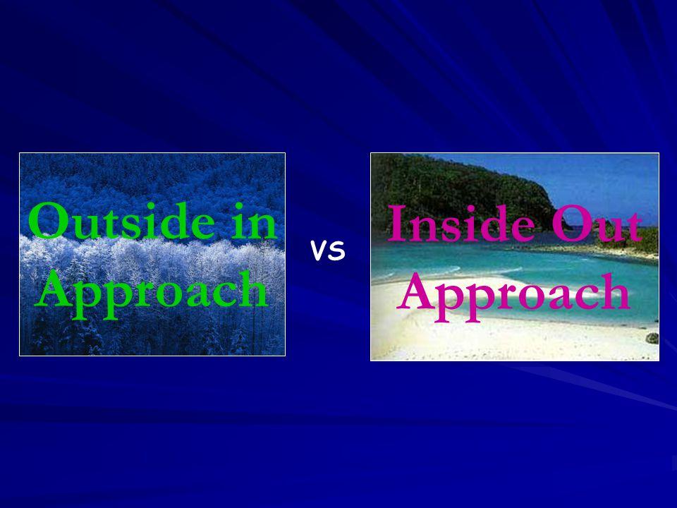 VS Outside in Approach Outside in Approach Inside Out Approach Inside Out Approach