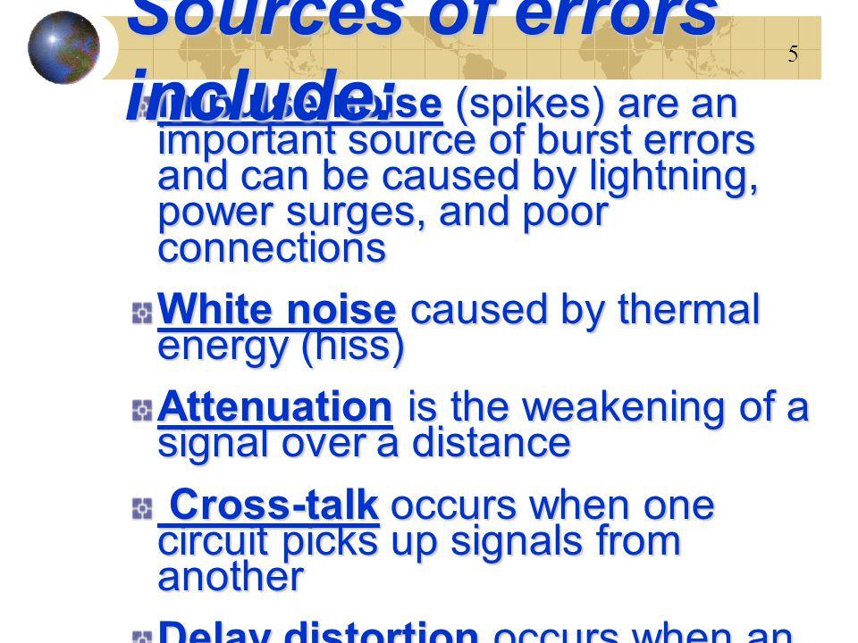 6 สัญญาณอิมพัลส์ – Impulse Noise One of the most disruptive forms of noise.