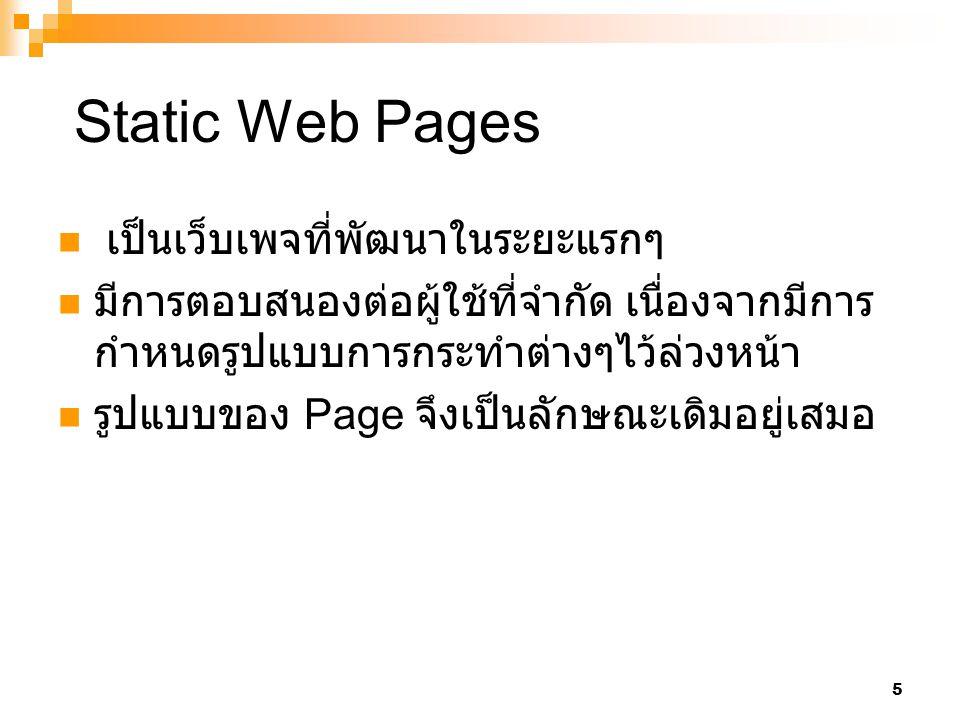 6 Web Server Client 1.Author Writes HTML 2. Client request Webpage 3.