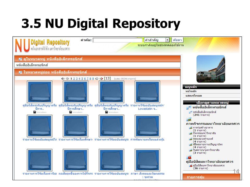 3.5 NU Digital Repository 14