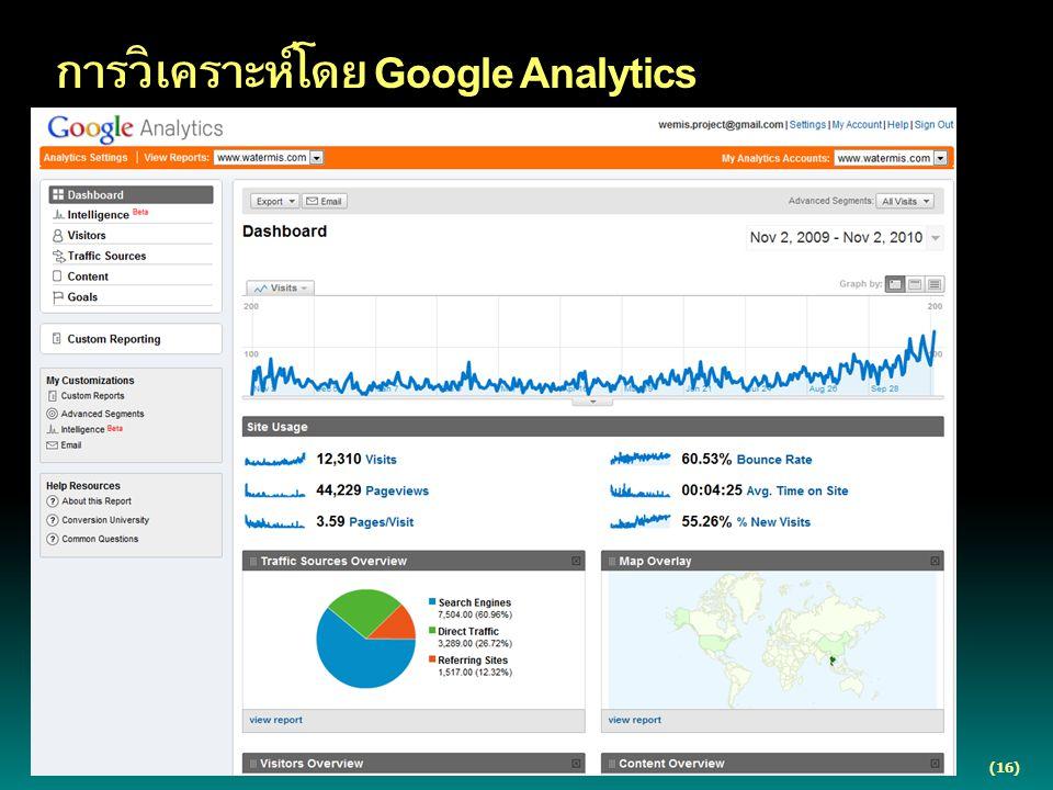 (16) การวิเคราะห์โดย Google Analytics