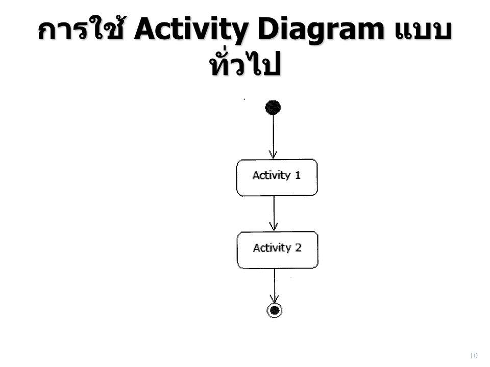 การใช้ Activity Diagram แบบ ทั่วไป 10