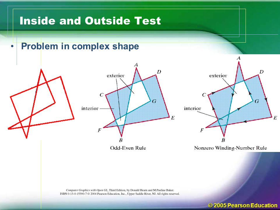 © 2005 Pearson Education Inside and Outside Test Problem in complex shape
