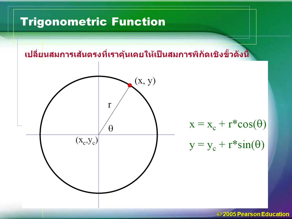 © 2005 Pearson Education Trigonometric Function