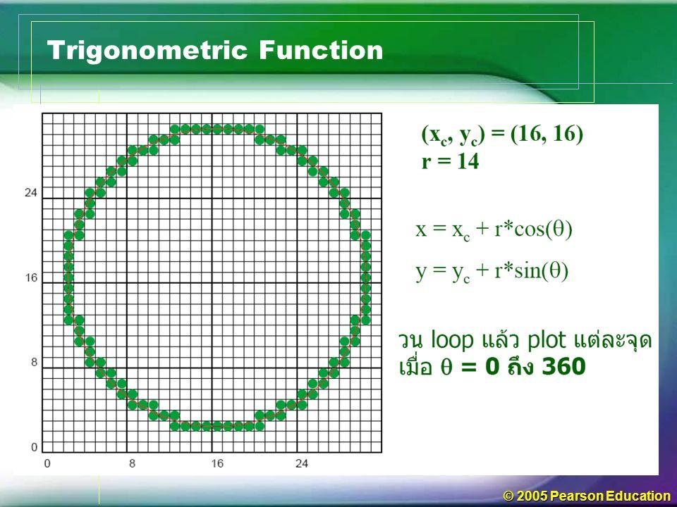 © 2005 Pearson Education Trigonometric Function
