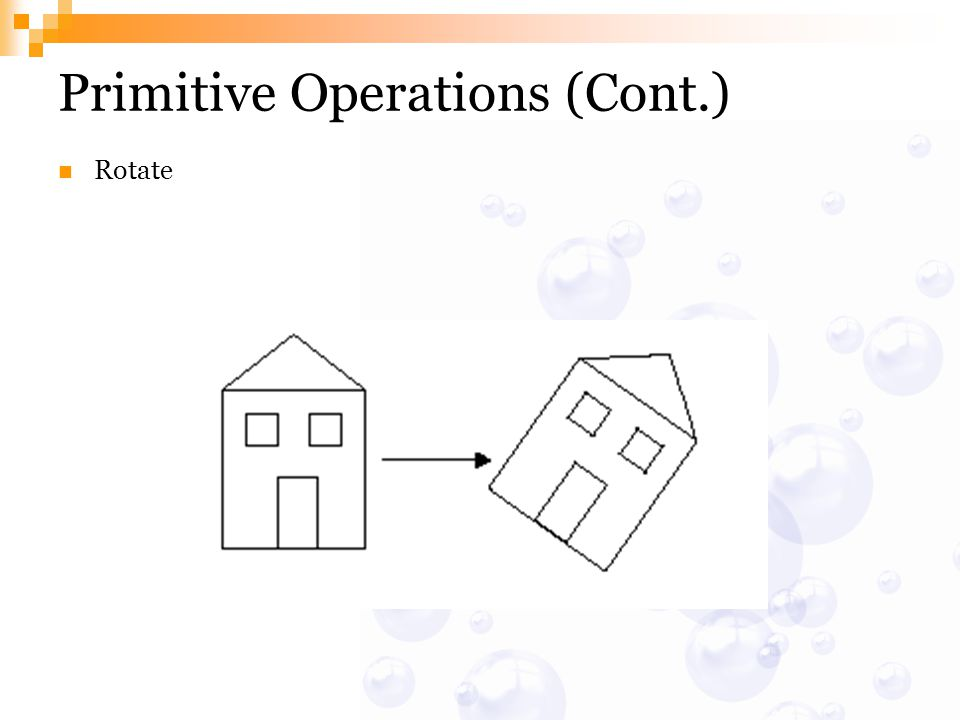 Primitive Operations (Cont.) Rotate