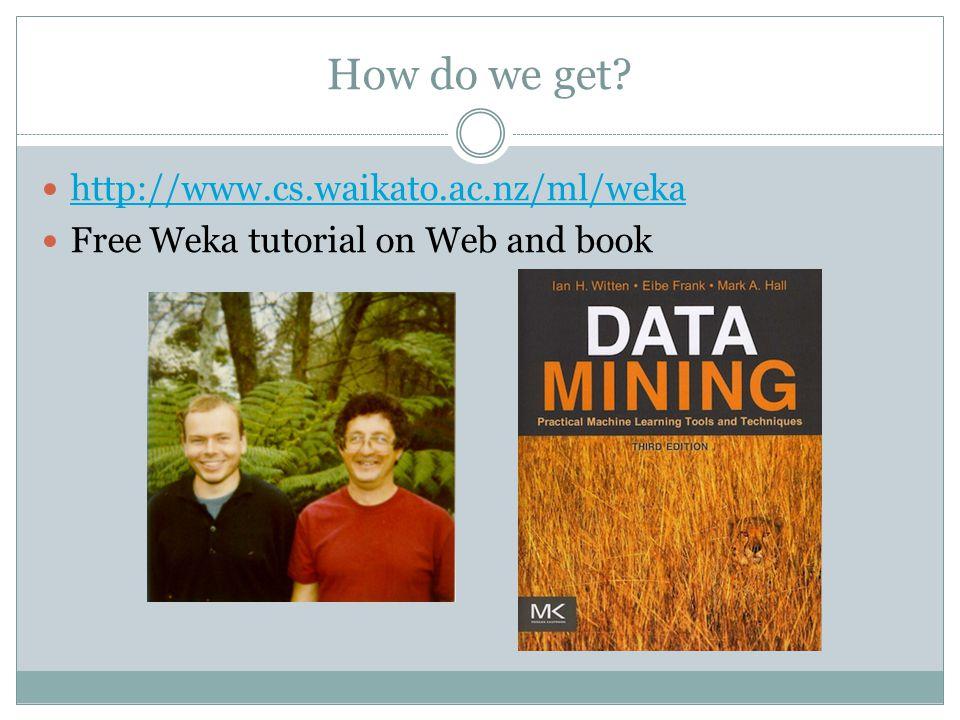 Starting Weka Weka's GUI