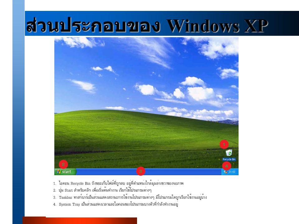 ส่วนประกอบของ Windows XP
