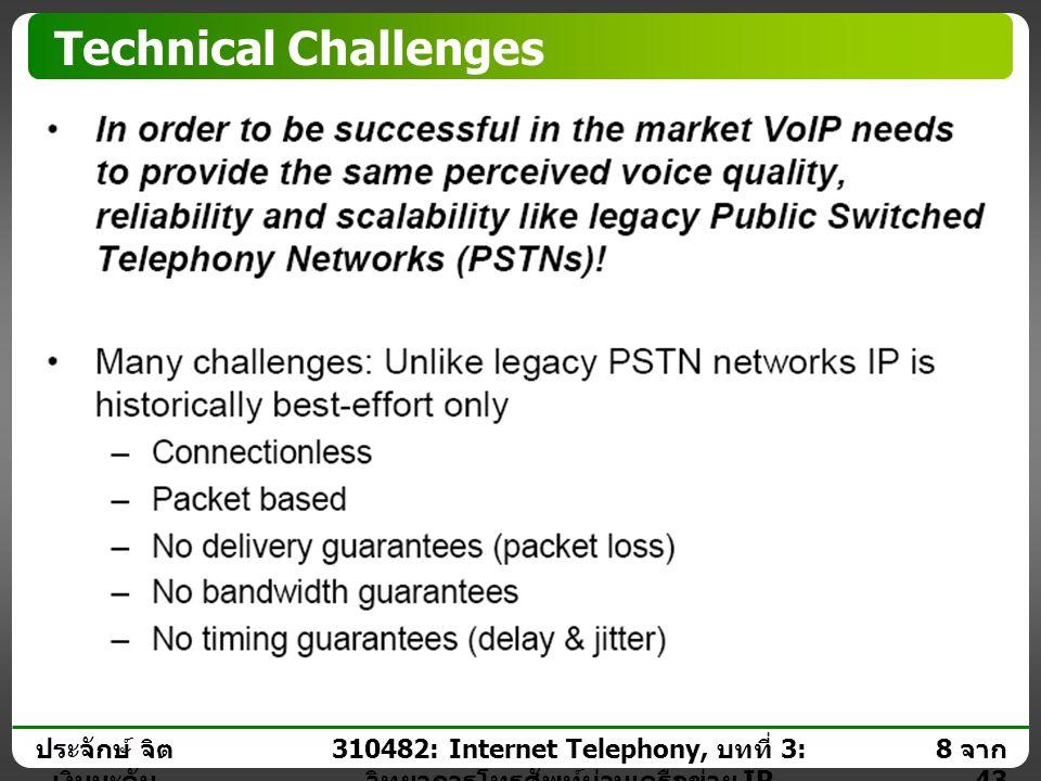 ประจักษ์ จิต เงินมะดัน 7 จาก 43 310482: Internet Telephony, บทที่ 3: วิทยาการโทรศัพท์ผ่านเครือข่าย IP Motivation