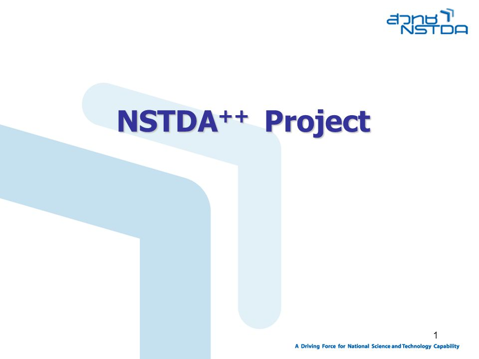 1 NSTDA ++ Project
