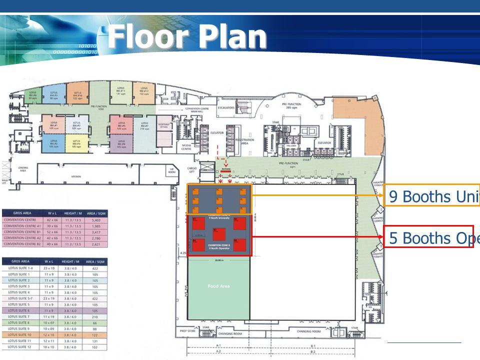 Floor Plan 5 Booths Operator 9 Booths University