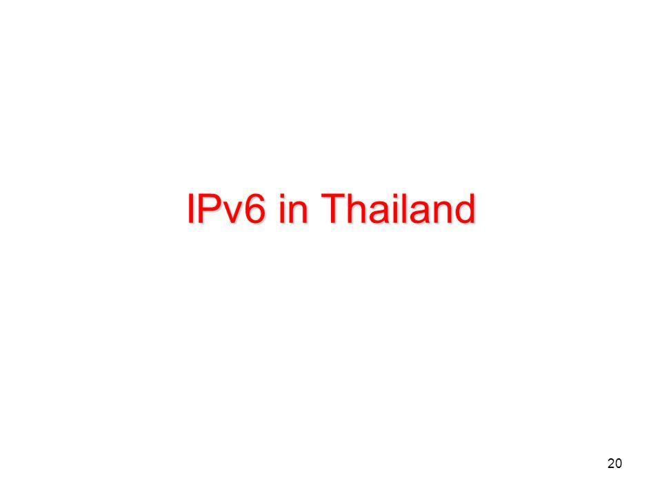20 IPv6 in Thailand
