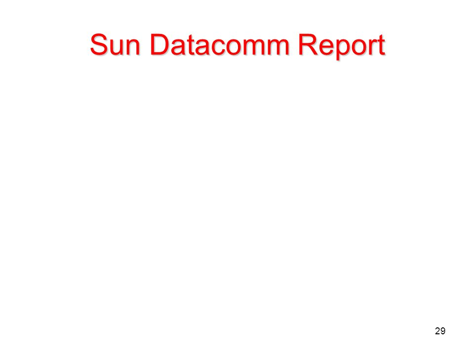 29 Sun Datacomm Report