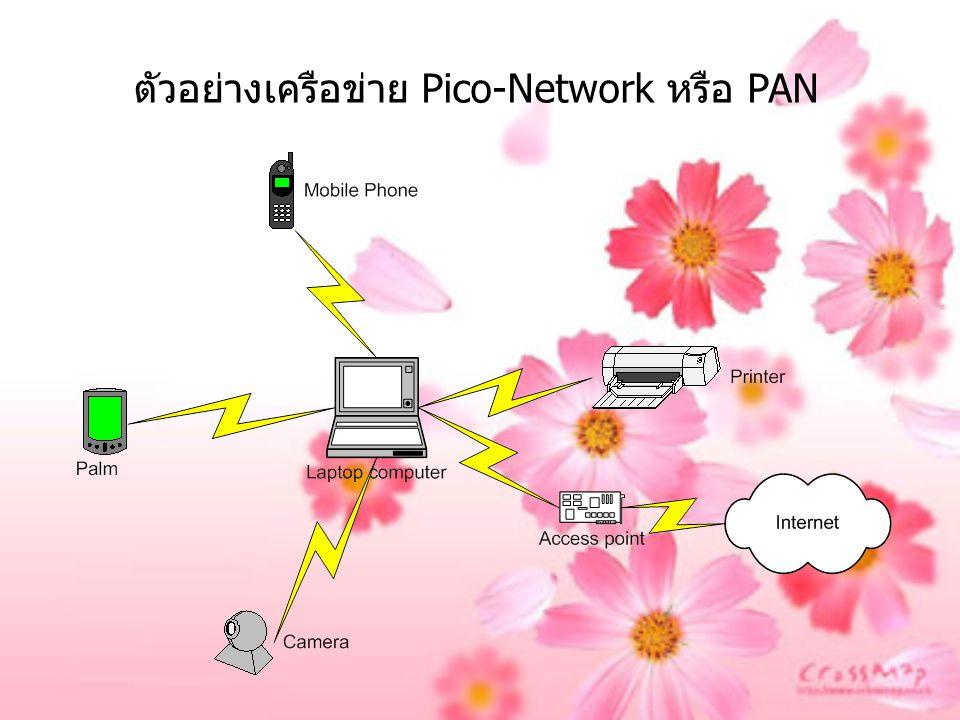 ตัวอย่างเครือข่าย Pico-Network หรือ PAN