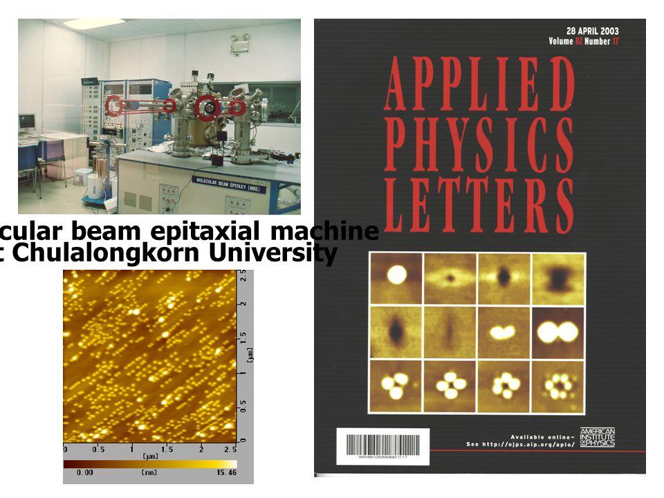 Molecular beam epitaxial machine at Chulalongkorn University