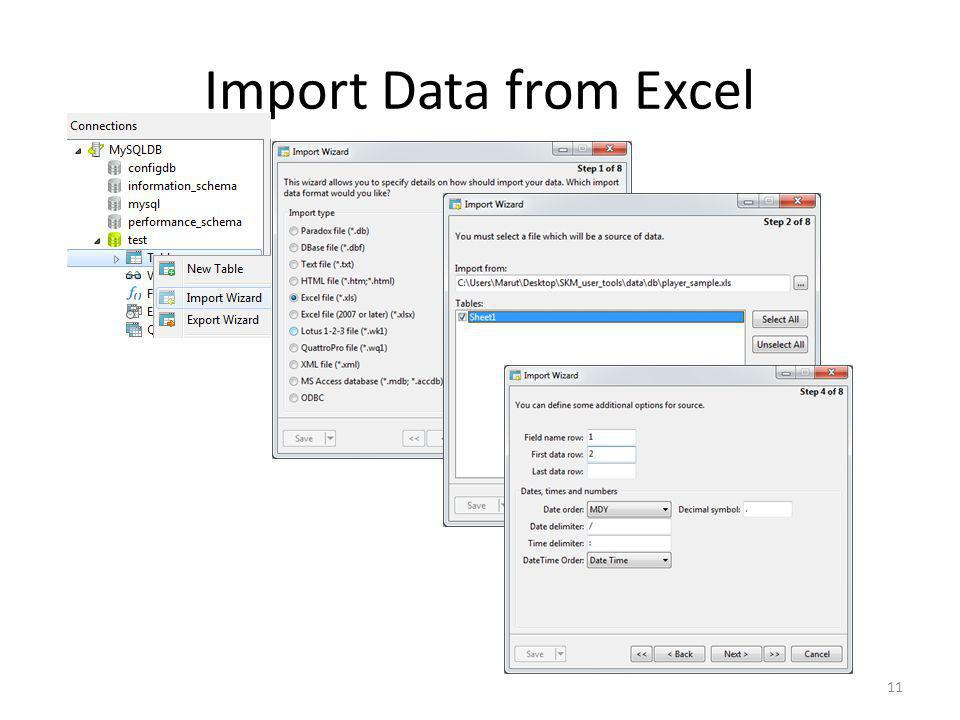 Import Data from Excel 11