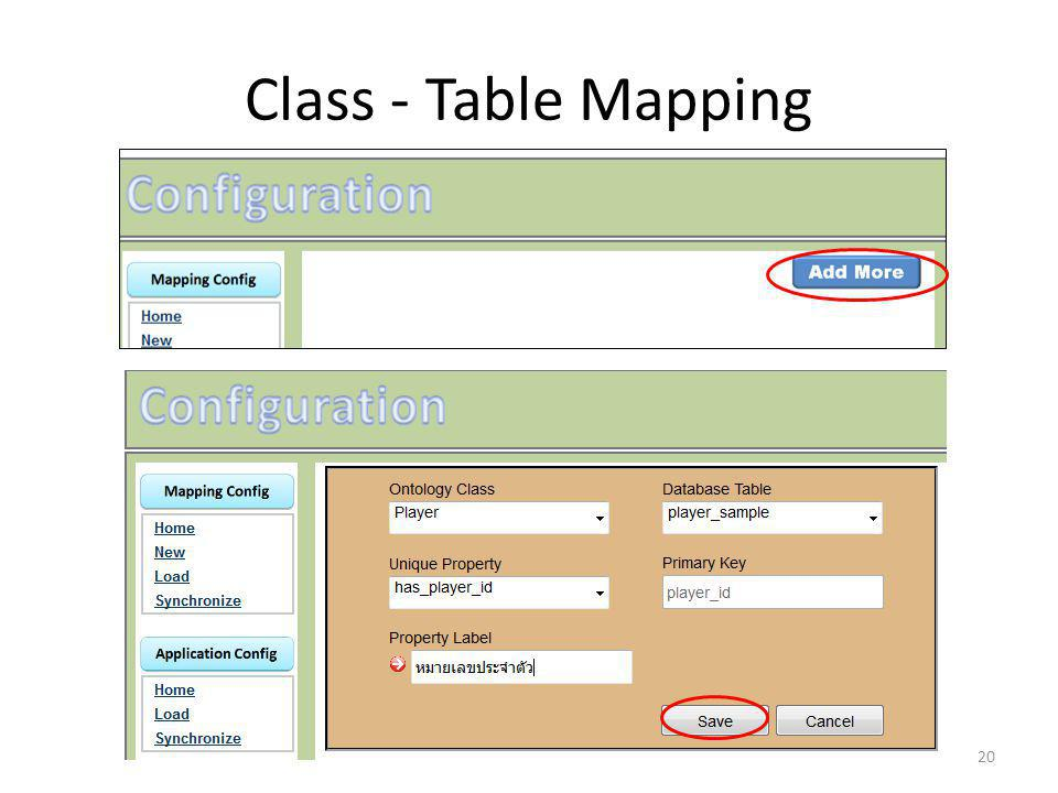 Class - Table Mapping 20