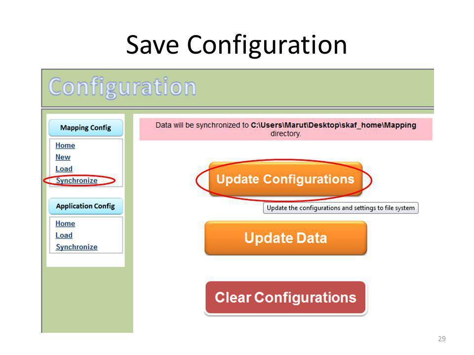 Save Configuration 29