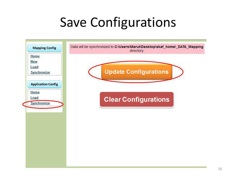 Save Configurations 36