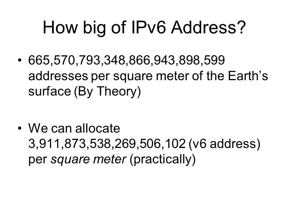 How big of IPv6 Address.