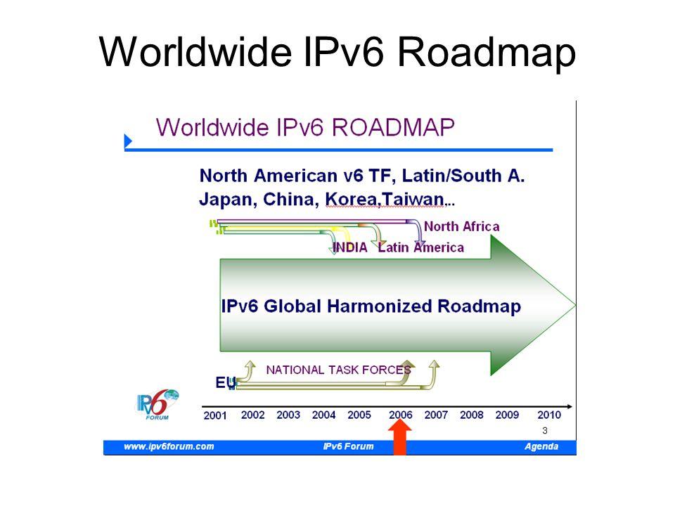 Worldwide IPv6 Roadmap
