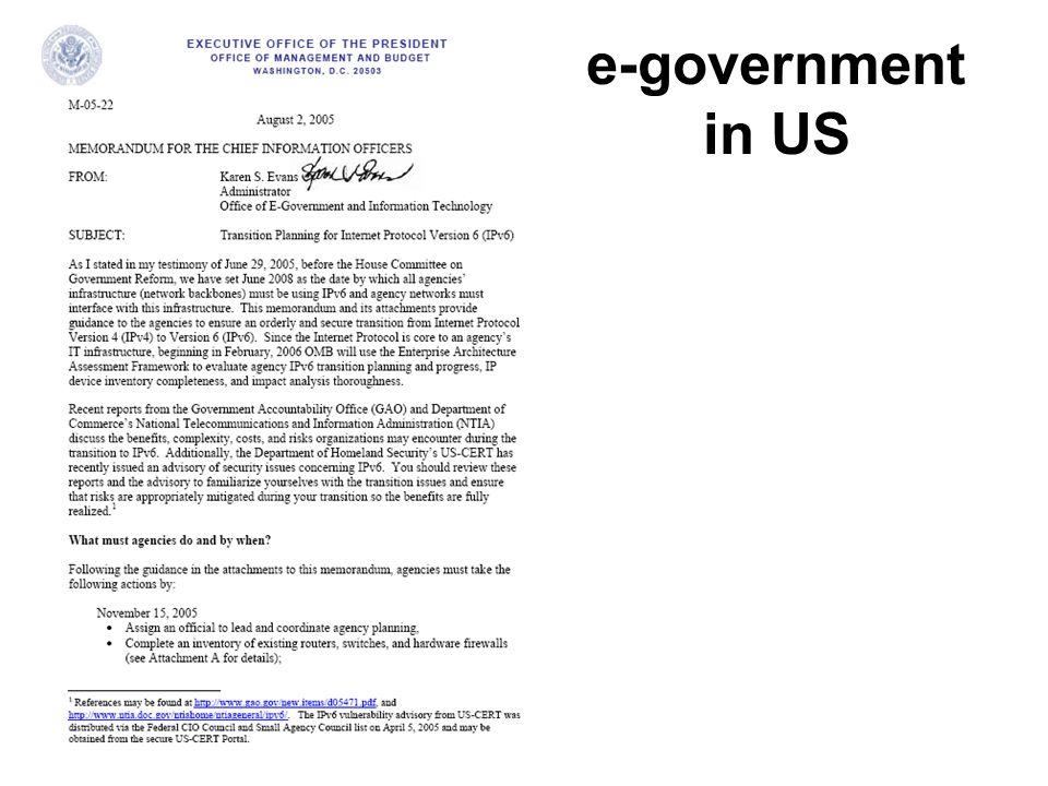 e-government in US
