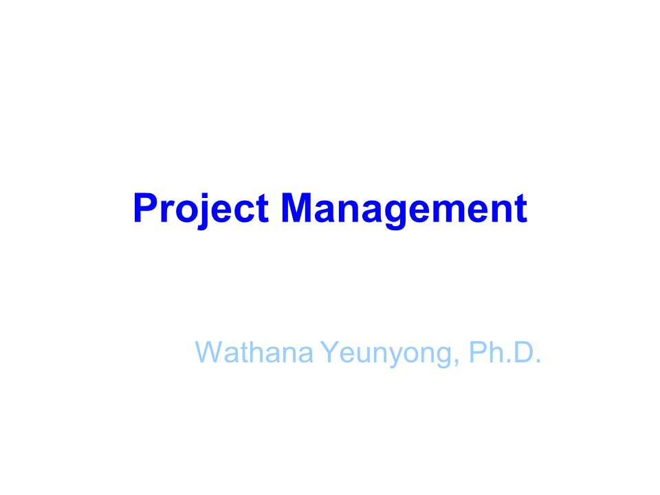 Why IT Projects Succeed 4.Good change management 5.